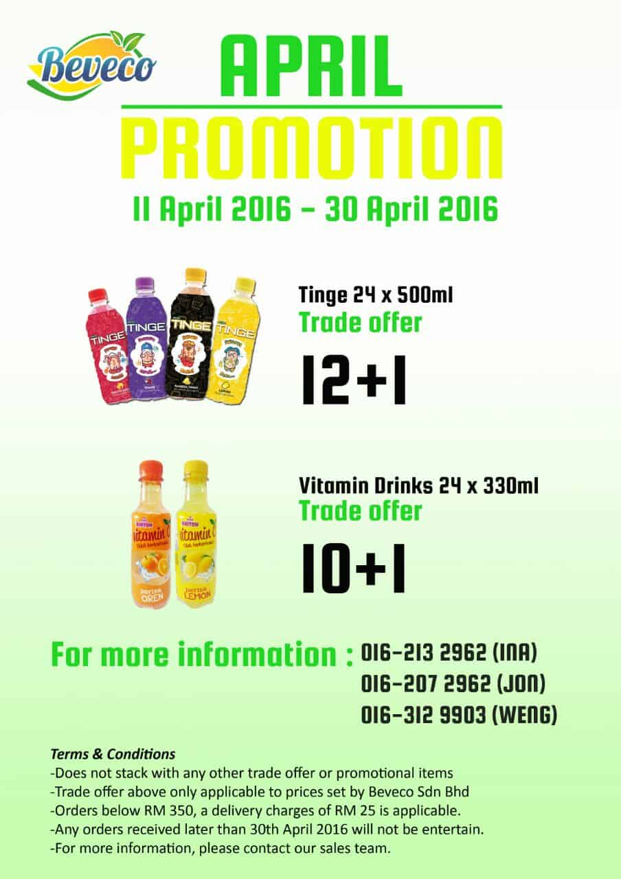 Beveco Tinge and Vitamin C Drink Promotion 2016