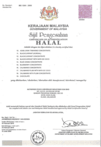 Nutrifres Fruit Concentrate Halal Certification